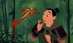 Mushu is a smaller guardian than Mulan expected. -- Mulan & Mulan II: 2 Movie Collection Blu-ray + DVD Review
