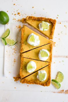 Key lime pie recipe in a loaf pan. Small key lime pie recipe that makes just 5 slices in a bread loaf pan. Small pie for two!