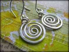 All Sterling Artisan Crafted Spiral Energy Earrings from Stacy's Designs 88 on Etsy