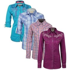 """""""New for Fall - Women's Button Down Shirts"""" by bootbarn on Polyvore"""