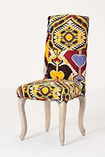 Anthropologie - Velvet Ikat Clarissa Dining Chair