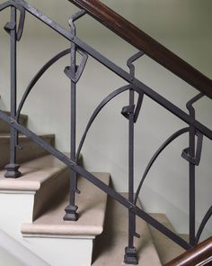 Metal Stairs, Metal Railings, Stair Handrail, Banisters, Railing Design, Staircase Design, Door And Window Design, Georgian Architecture, Outdoor Stairs