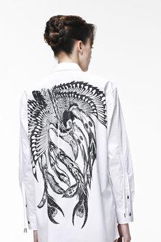 Paul Smith Black Label for Horiyoshi III. Phoenix printed shirt.