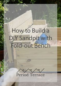 This DIY wooden sandpit is made out of decking boards. The lid folds out to make two benches and it can be built start to finish in a couple of evenings. Alcove Storage, Alcove Shelving, Window Seat Storage, Shelves, Wooden Sandpit With Lid, Victorian Living Room, Victorian Decor, Victorian House, Alcove Ideas Living Room