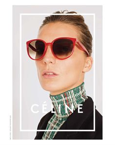 Daria Werbowy by Juergen Teller for Celine Eyewear S/S 2014  http://www.onlylens.com/en/sunglasses/8715-celine-41068s.html?id_attr=54507