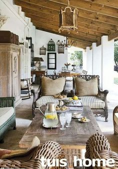 Kinds Of Teal Living Room Accessories To Renew The Views Lovely veranda in South AfricaLovely veranda in South Africa Lounge Decor, African Home Decor, South African Homes, Cheap Home Decor, Home Decor, Colonial Decor, House Interior, Modern Rustic Decor, Home Interior Design