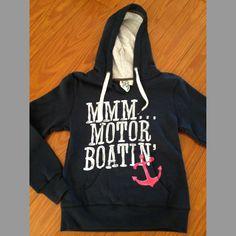 MMM...Motorboatin  Fleece Hoodie...