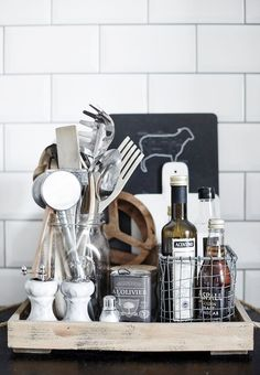Wooden tray in the kitchen of the The Helsinki home of design blogger #lagerma, captured by Riika Kantikoski.
