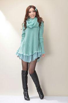 Mango Doll - Cute Knit Sweater Dress , $48.00 (http://www.mangodoll.com/all-items/cute-knit-sweater-dress/)