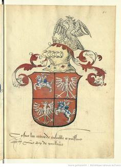 Lithuania, Poland, Medieval, Bnf, Crests, Coat Of Arms, Herb, Stained Glass, Vintage World Maps