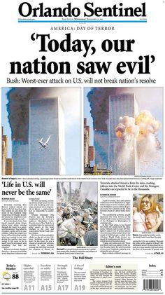 september 11 essay Looking Back: Newspaper Front Pages Covering History Essay, History Facts, World History, 11 September 2001, World Trade Center Attack, Newspaper Front Pages, Vintage Newspaper, Newspaper Headlines, Sample Essay