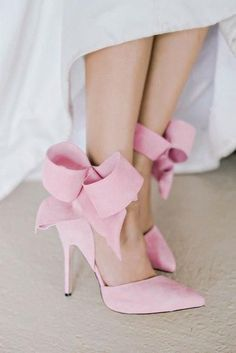 Sexy Women s Pointy Toe Butterfly Knot Gladiator High Heel Red Pumps  Gorgeous Ankle Side Bow Cut Out Fashion Women Pumps Shoes. Pink Wedding  ShoesBridal ... 9f10bd38fd54