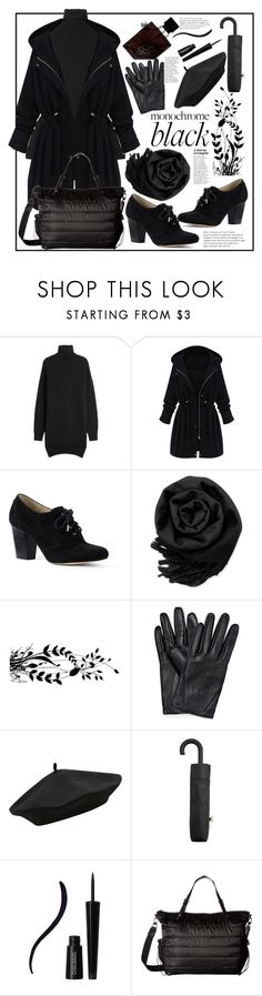 """""""Monochrome Black"""" by natalyapril1976 on Polyvore featuring Isabel Marant, WithChic, Lands' End, Gearonic, M&Co, MANGO, Mia Bellezza, Sol & Selene and Illamasqua"""