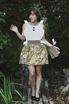 DIY Paper Doll Costume; such a neat costume for girly girls and those who love to sew.