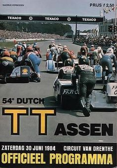 1984 Motorcycle Posters, Texaco, Illustrations And Posters, Circuit, Racing, Ads, Motorcycles, Pilots, Netherlands