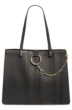 'Faye' Calfskin Leather Tote