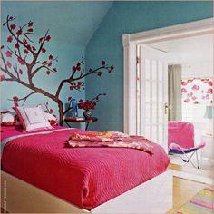 Pretty tree wall painting
