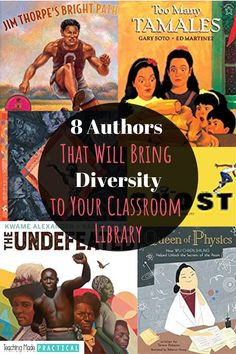 Check out these 8 authors of color if you are wanting to add some diversity to your classroom library.  There are African-American authors, an author from Sioux Nation, Cuba, Hong Kong, Mexico, and more.  Making sure each of your 3rd, 4th, and 5th grade students has access to books that reflect their culture is essential.  And making sure you expose your upper elementary students to literature from around the world can help your students better empathize with others. Reading Comprehension Strategies, Reading Passages, Reading Resources, Reading Skills, Writing Activities, School Resources, Writing Ideas, 5th Grade Reading, Guided Reading