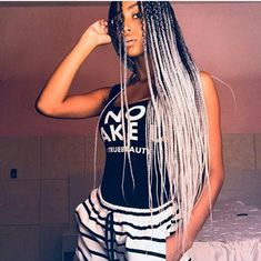 Braids hairstyles for black women plaits 29 new Ideas Box Braids Hairstyles, African Hairstyles, Black Girls Hairstyles, Braided Dreadlocks, Afro Braids, Locs, Black Girl Braids, Girls Braids, Pelo Afro