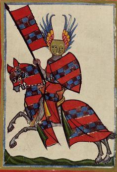Stripes in heraldry -  Codex Manesse. (Manesse codex, 1300-1340, at Bibliotheque National de France, website: www.bnf.fr Codex info: digi.ub.uni-heide... ):