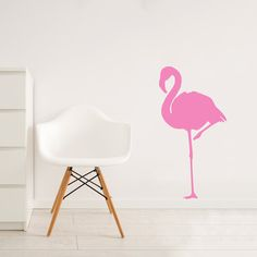 My design inspiration: Flamingo Wall Decal on Fab.