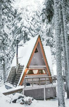 An A-mazing A-frame you'll never want to leave! #mountainhomes