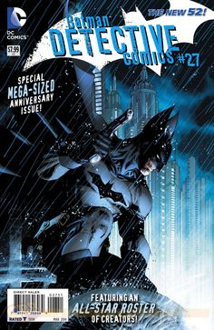 Cover for Detective Comics #27 which is a Special Mega-Size Anniversary Issue with a cover by Jim Lee.