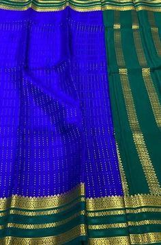 Blue Fabric, Silk Fabric, Woven Fabric, Crepe Silk Sarees, Silk Crepe, Mysore Silk Saree, Color Schemes, Lady, Clothes