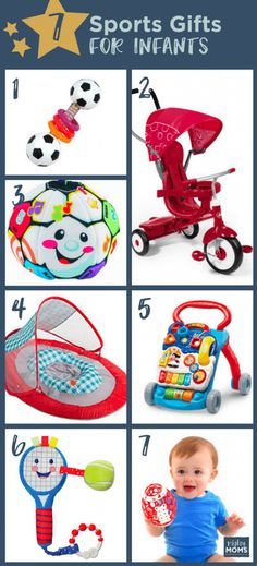 21 Baby Sports Gifts Your Little All-Star Will Love Toddler Toys, Toddler Activities, Baby Toys, Sports Toys, Sports Gifts, Baby Sled, Toy 2, Games For Kids, All Star