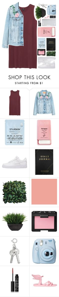 """""""🌷🌸🌹"""" by sewing-girl ❤ liked on Polyvore featuring Monki, Starskin, Pier 1 Imports, NIKE, kikki.K, Lux-Art Silks, NARS Cosmetics, Fujifilm and Ancient Greek Sandals"""