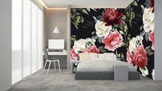 Kwiatowy akcent w sypialni http://mural24.pl/konfiguracja-produktu/86351075/ #fototapeta#obraz#plakat#naklejka#homedecor#wystrójwnętrz