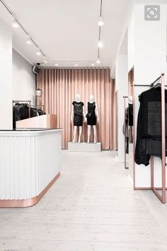 Nordstrom Clothes - Helle Flou designed the interior for the new clothing shop Ann-L in Holbæk, Denmark. Photos by Kristine Funch. Boutique Design, Design Shop, Design Loft, Shop Front Design, Shop Interior Design, Studio Interior, Boutique Ideas, Boutique Shop Interior, Hotel Boutique