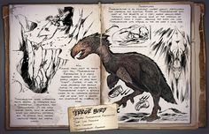 Ark: Survival Evolved Dossiers: Terror Bird by DJDinoJosh on DeviantArt Fantasy Creatures, Mythical Creatures, Game Ark Survival Evolved, Dino Park, Prehistoric Creatures, Bird Species, Creature Design, Mammals, Sketches