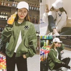 KPOP-BTS-Baekhyun-Merchandise-Varsity-Jacket-Unisex-EXO-SHINEE-GOT7-Mamamoo-Coat