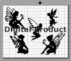 Fairy Silhouettes SVG dxf eps pdf png svg studio3 file