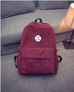 eb22c55bb348 Lemon Kitten Retro Backpack For Women Girl Korean Simple Colour Mochila  Escolar Women Backpack School Bag Female Rucksack