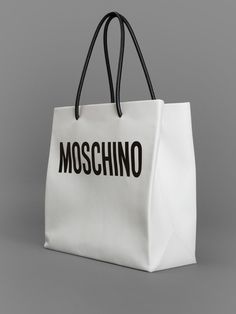 MOSCHINO SHOPPER BAG WITH ONE INTERNAL ZIP POCKET HEIGHT: 34CM WIDTH: 36CM DEPTH: 14CM