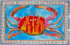 """Place mat by Ellie Wyeth - """"Red Crab"""""""