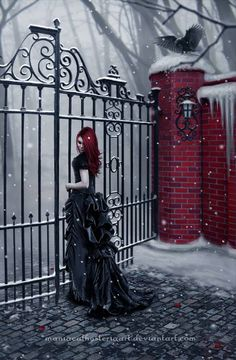 that gate....which separates her from the castle of her Master