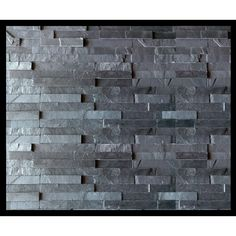 Midnight stack stone wall cladding