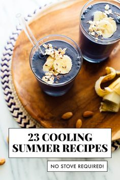 These no-cook recipes are perfect for hot summer days! Find 23 cooling recipes, including breakfast, hearty salads, drinks and dessert. No stove required! #summerrecipes