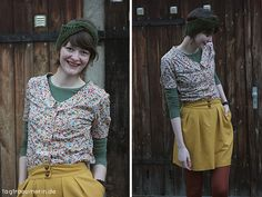 Samstagsoutfit and selbstgemachte Bluse