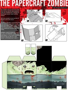 the papercraft zombie