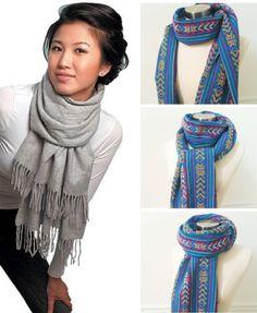 How to wear a blanket scarf shawl tie scarves ideas - womenaccess. - How to wear a blanket scarf shawl tie scarves ideas – womenaccessory Source by ndochat - How To Wear A Blanket Scarf, Ways To Wear A Scarf, How To Wear Scarves, Tie A Scarf, Pashmina Scarf, Scarf Wrap, Diy Fashion, Ideias Fashion, Autumn Fashion