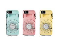 Vintage Rotary Phone iPhone Case. Wow. Look at that mint green case!