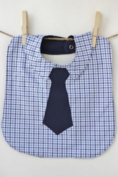 Future Hipster Business Bib with Navy Blue Plaid Shirt Front. $15.00, via Etsy.