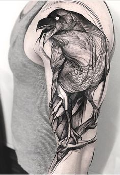 Frank Carrilho Raven tattoo