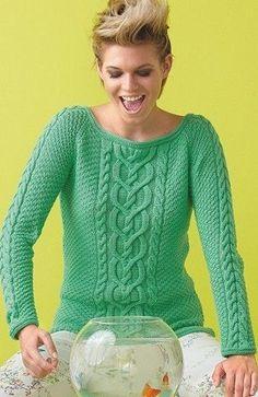 Красивый узор для пуловера, связанного спицами. Схема вязания пуловера спицами