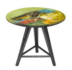 GALLERY END TABLE - ROUND (ABSTRACT)  $250.00