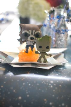 """Rocket and Groot figurines from a """"Guardians of the Galaxy"""" Birthday Party on Kara's Party Ideas   KarasPartyIdeas.com (36)"""